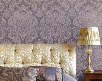 Wall Pattern Stencil Florentine Damask Allover Stencil for Wall Decor and More