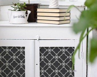 Furniture and Wall Stencil Eastern Lattice Stencil for Chic DIY Surface Decor