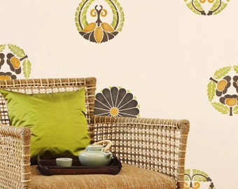 Wall Pattern Stencil Large Japanese Medallions for Wall Decor and More