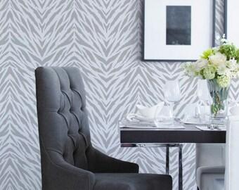 Wall Pattern Stencil Zebra Stripes Allover Stencil for Wall Decor and More