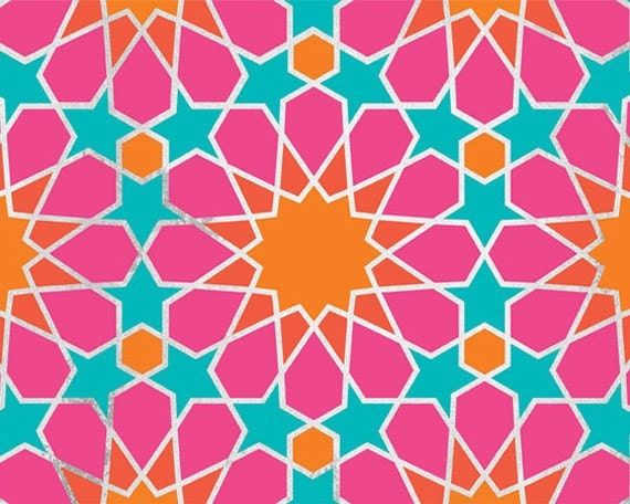 Moroccan Geometric Allover Stencil - Wall Stencils for Painted Wallpaper Look - Boho Chic Modern Style Wall Mural