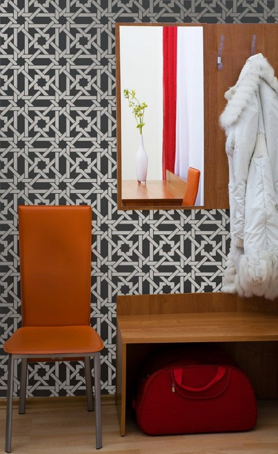 Reusable Wall Stencil Camel Bone Weave Stencil - Painted DIY Wall Decor and Floor Painting Ideas