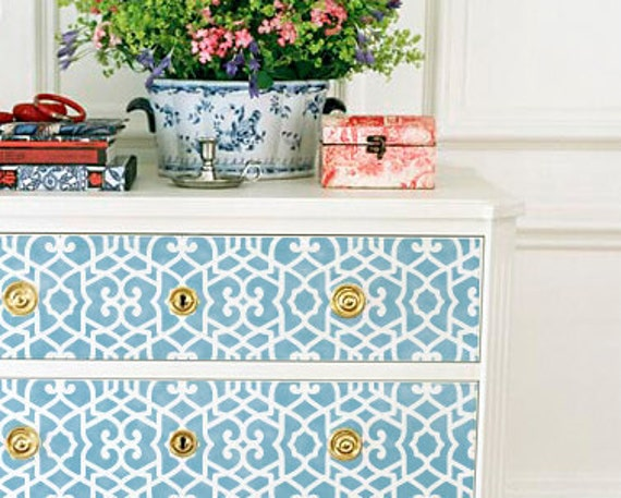 Wall furniture stencil small chez sheik by - Stencil patterns for furniture ...
