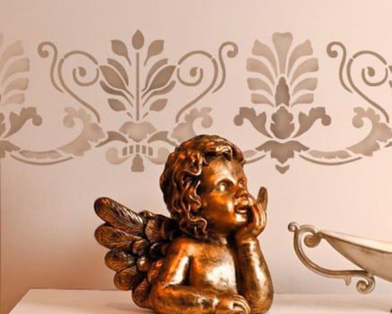 Wall Border Stencil Romanesque Frieze - Old World European Style Home Decor