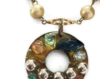 Bejeweled Mermaid treasure of the sea Necklace