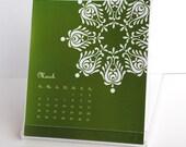 2012 desk calendar with hungarian folk art motifs