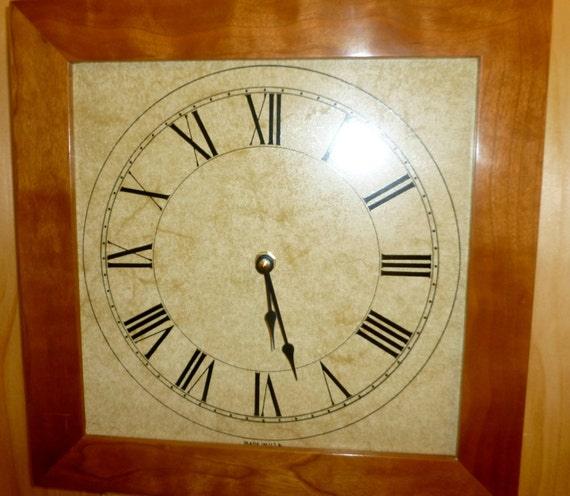Solid Cherry Wall Clock