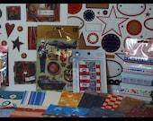 America USA July 4th Paper Crafting Scrapbooking Card Making Kit