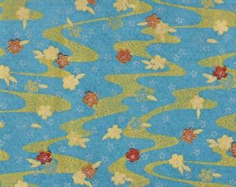 Teal Sakura Japanese Yuzen Chiyogami Washi Paper