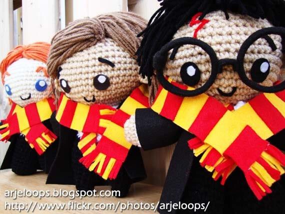 Harry Potter and Friends Crochet Doll Set - Made to Order