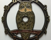 Vintage glittery owl clock face. I LOVE THE 80's