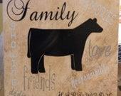 Heifer tile with words