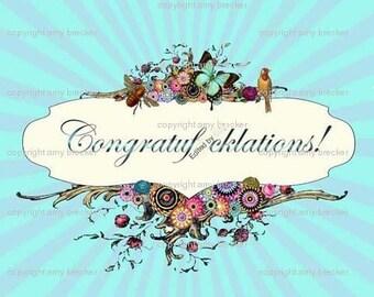 "Congratuf""cklations greeting card"