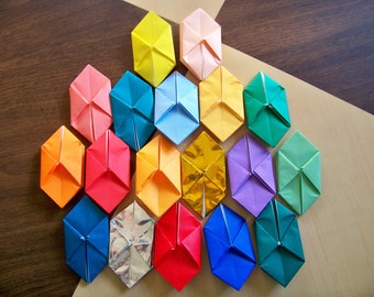 origami paper lanterns for light string