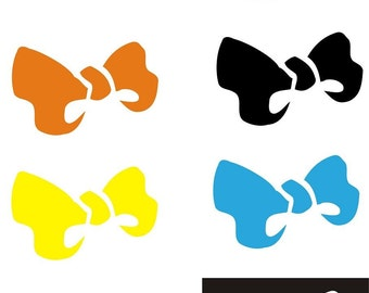 """Roller Derby Helmet Decal MAMA Bow 4"""" Choose colors"""