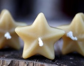 Beeswax Candles -Floating Stars - 3 pack