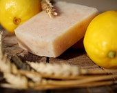 Lemon Oatmeal Scrub Bar Soap -naturally made with honey and beeswax