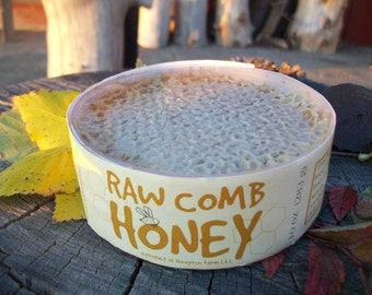 Pure raw comb honey - straight from the beehive