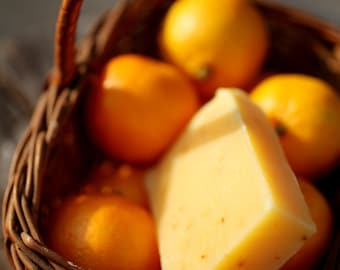Tangerine Citrus Soap - natural soap made with honey and beeswax
