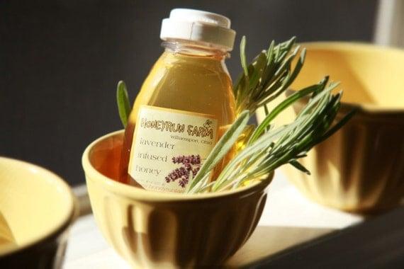 Lavender Infused Honey - 16 ounce jar
