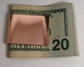 Wide Copper Money Clip, Stubby Copper Money clip, Copper Business Card Holder, Sturdy Copper moneyclip
