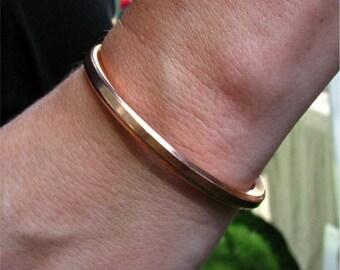 """Copper Cuff Bracelet, 1/4"""" Solid Copper Wire, Simple Copper Cuff Bracelet, Sturdy Copper bracelet, Bad ass cuff"""