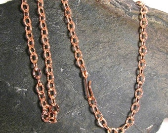 """Copper Chain, 26"""" Patterned Links 5.9mm"""
