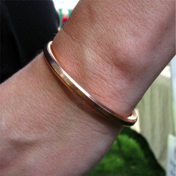 "Copper Cuff Bracelet, 1/4"" Solid Copper Wire, Simple Copper Cuff Bracelet, Sturdy Copper bracelet, Bad ass cuff"
