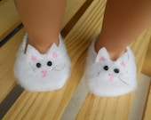 Doll Cat Slippers,18 inch Doll Clothes, Doll Slippers, Fits American Girl, Cat Slippers