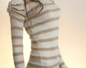 Striped sweater with  Victorian puffy sleeves