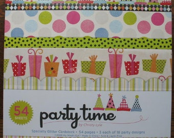MME My Mind's Eye Party Time Scrapbook Paper Pad Collection 12x12
