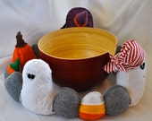 Halloween Felt Table Decor, Kids Spooky Campfire Toy,Ghost,Witches,Mummy,Pumpkins,Gravestones