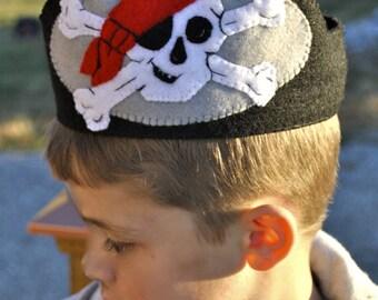 Pirate Felt Visor Hat