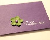 Hello Friend - purple blank card