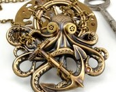 Steam Punk Necklace Steampunk Octopus Jewelry Kraken Cthulhu Steampunk Goggles Steampunk Pirate Steampunk Jewelry By Victorian Curiosities.