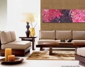 RESERVED FOR RACHEL - Pink & Brown Abstract Art By Jenny Miller