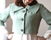 50s Crop Jacket Adorable Wide Collar