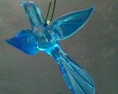 Handmade Art Glass bluebird Ornament / Suncatcher