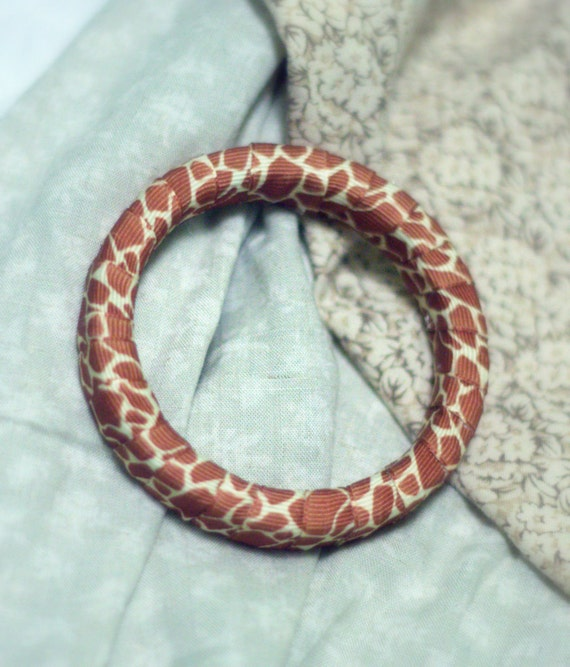 Giraffe Print Bangle Bracelet