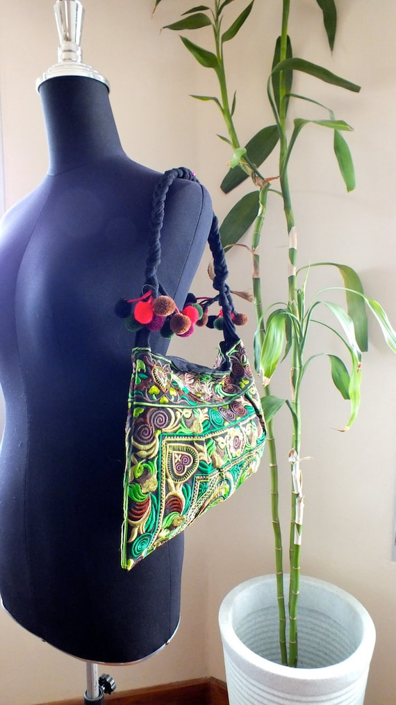 Ethnic Vintage style tote Hong Tribe Bag , Thailand
