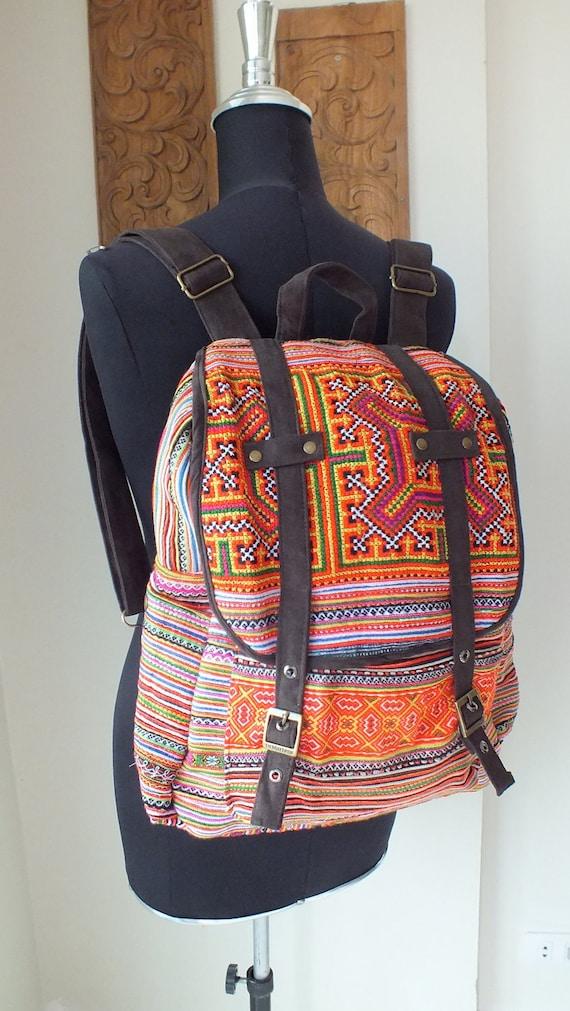 Hmong Ethnic Fabric,Handmade bags- vintage fabrics-Handbags-backpack-rucksack-tote