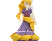 Rapunzel from Tangled Inspired Ribbon Sculpture Hair Clip