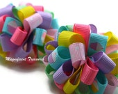 Cupcake Loopy Puff Bow Set of 2