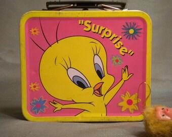 Tweety Bird miniature pink lunch pail