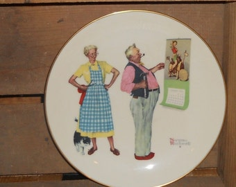"Norman Rockwell Plate, ""New Year Look"" 1978"