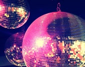 Purple and Pink Disco Balls, 5x7 Photo Print, Matted to 8x10 Ready to Ship
