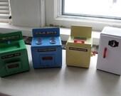 Tin Toy Kitchen Set of FOUR
