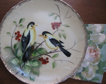 Goldfinch Enesco Decorative signed Plate  Love Birds SALE