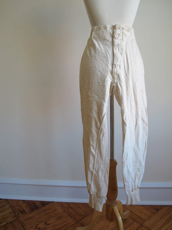 Cream WWII French Army Long Underwear Pant, size small