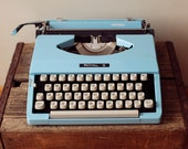 Royal Mariner Candy Color Blue Vintage Typewriter